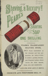 Advert for Pear's Shaving Soap
